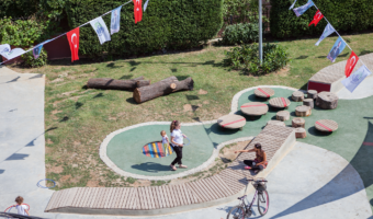 A playground in Istanbul designed for children from birth to age 3 and their caregivers